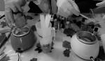 Apprendre à créer ses parfums d'intérieur solides : carrés d'ambre et bougie parfumée