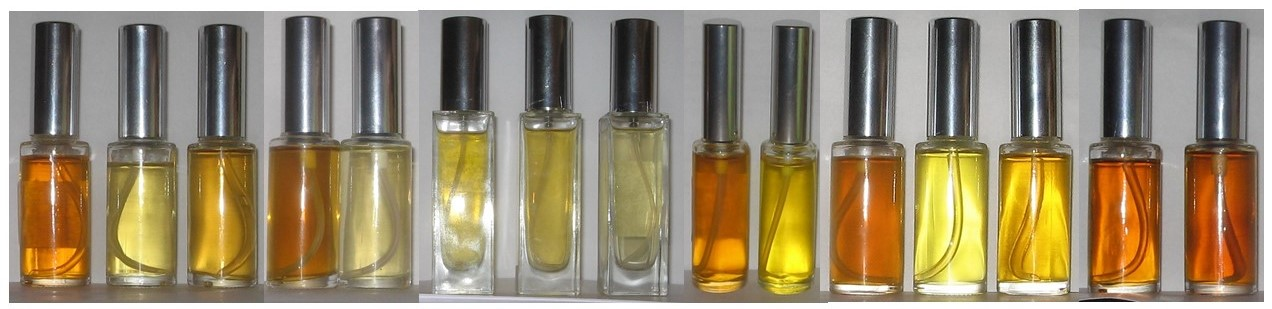 Perfume bottles with natural raw materials